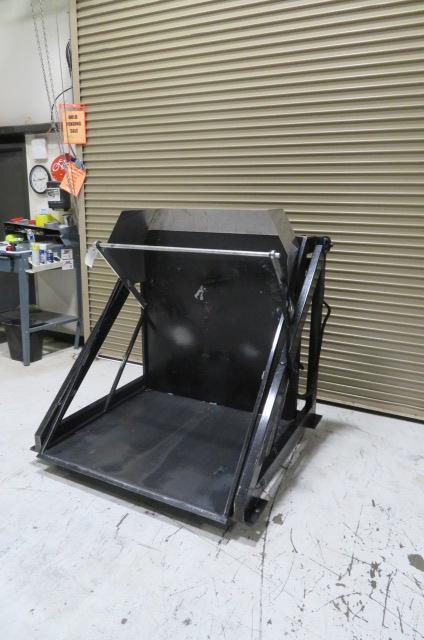Material Transfer and Storage, Inc. Used Box Dumper, 2500 lbs. Lifting Capacity, 115V
