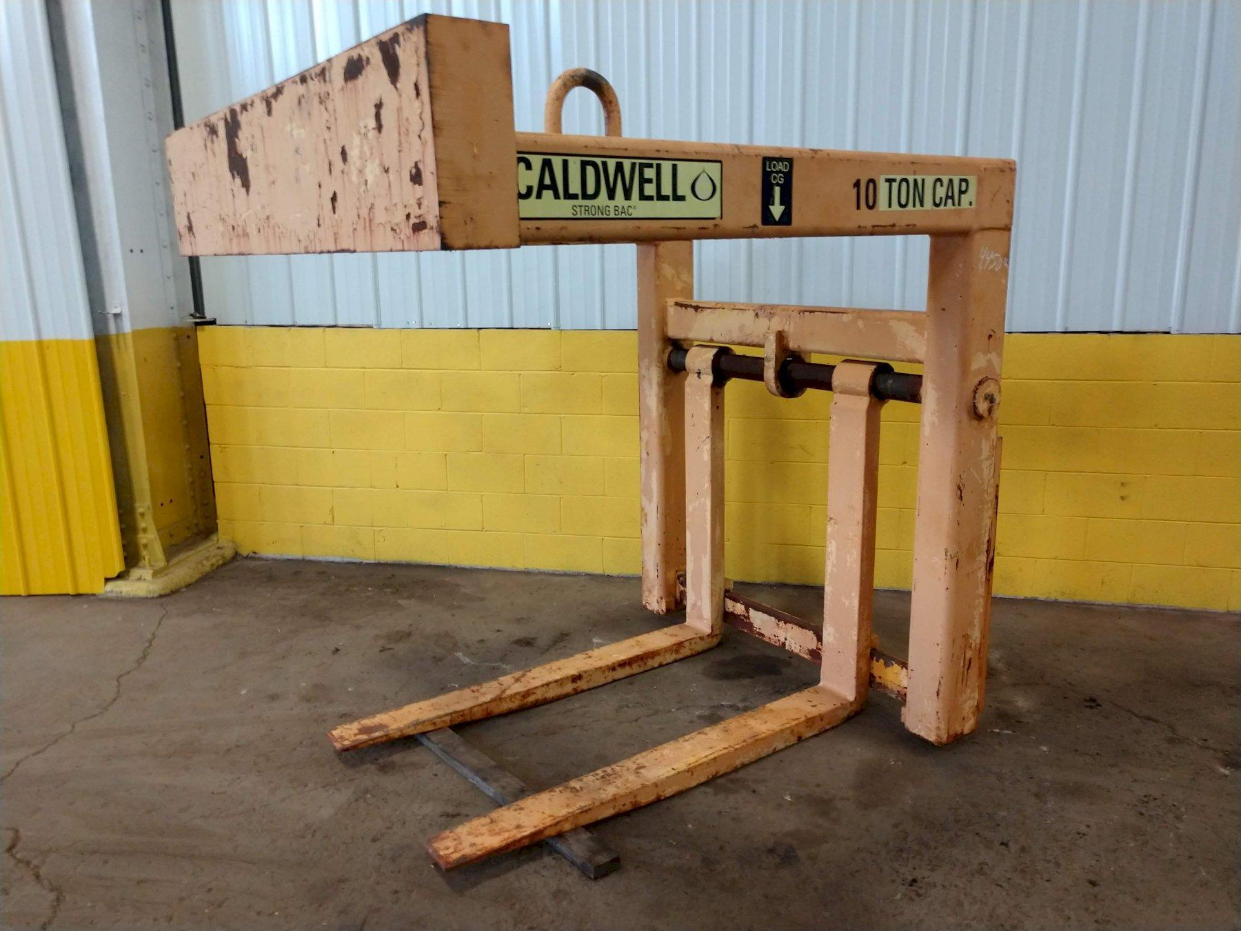 10 TON CALDWELL ADJUSTABLE FORK PALLET LIFTER: STOCK #13068