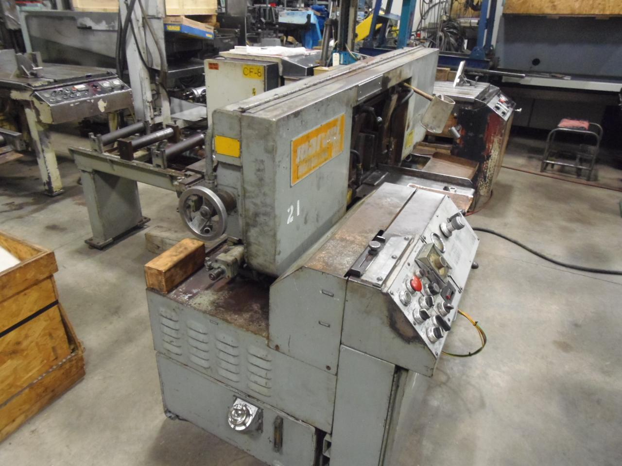 "13"" MARVEL SERIES 13A HORIZONTAL BANDSAW, ROLLER TABLE, 1981"