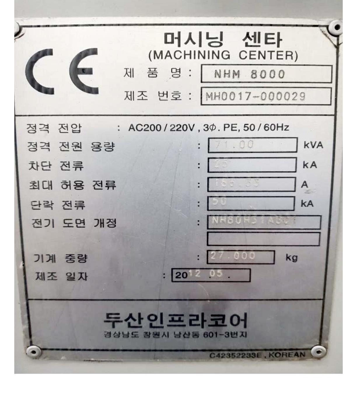 Doosan HM 8000 90ACT 2012