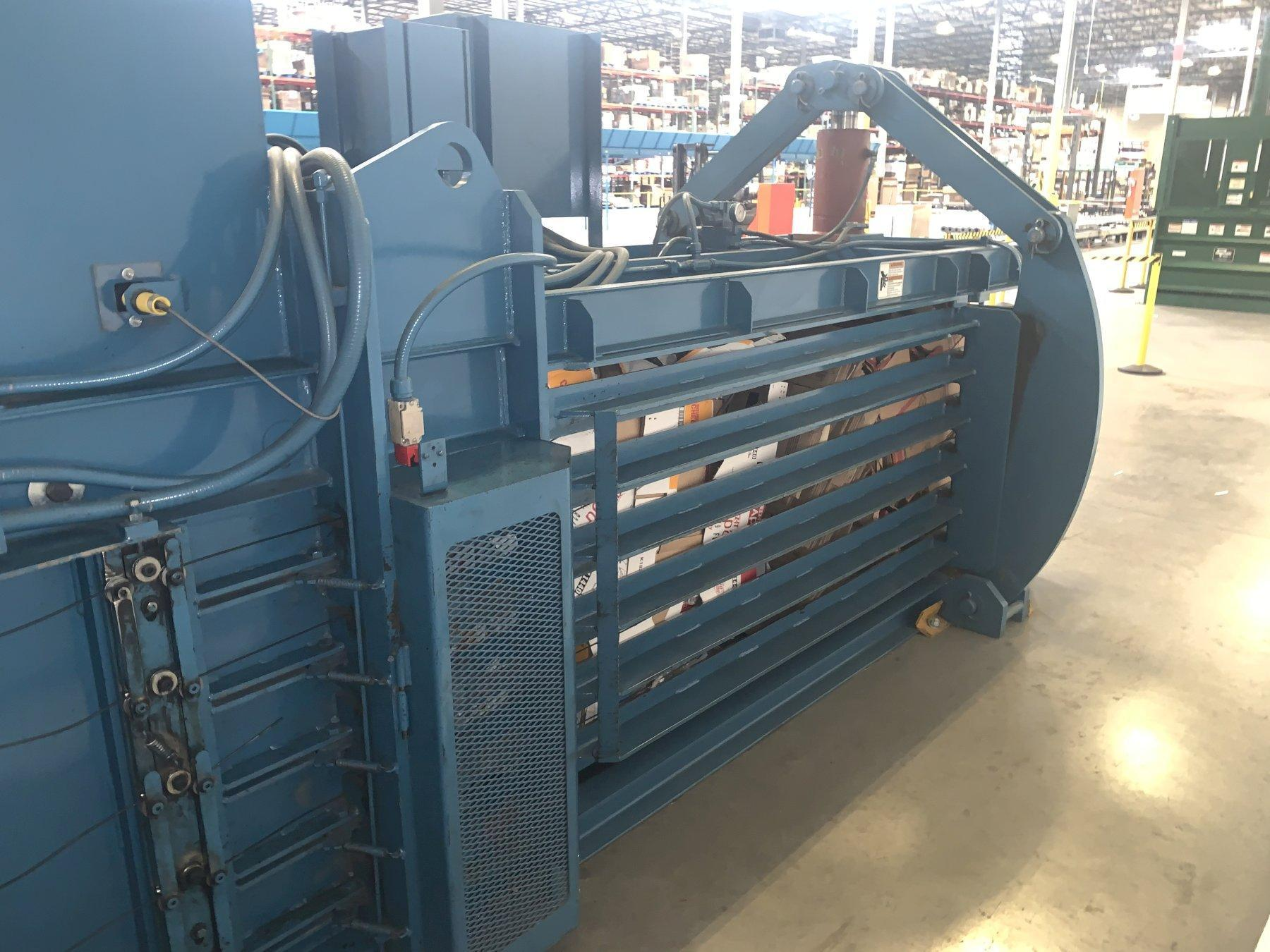 "48"" x 42"" x 30 HP Nexgen TIEger Series WC-150-60 Horizontal Auto-Tie Cardboard Baler with 42' Conveyor"