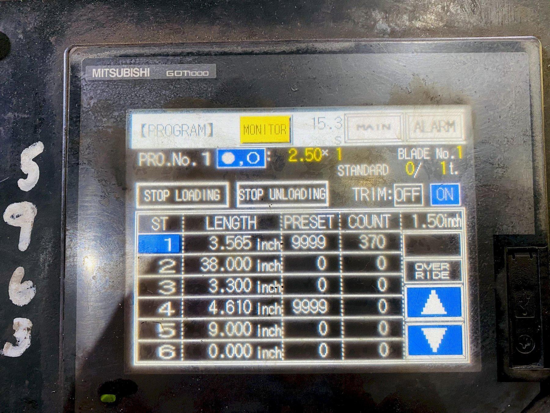 """4"""" AMADA CMB 100 CNC CIRCULAR SAW. STOCK # 0416021"""