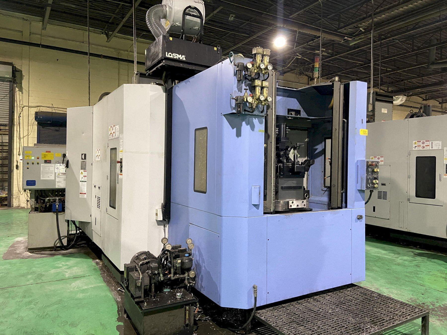 """Doosan HP5100II CNC Horizontal Machining Center, Fanuc 31iA, 19.7"""" Pallets, 14K Spindle, CTS, 30 HP, Hyd Clamping, 60 ATC, Chiller, Full 4th, 2015 (4 Available)"""