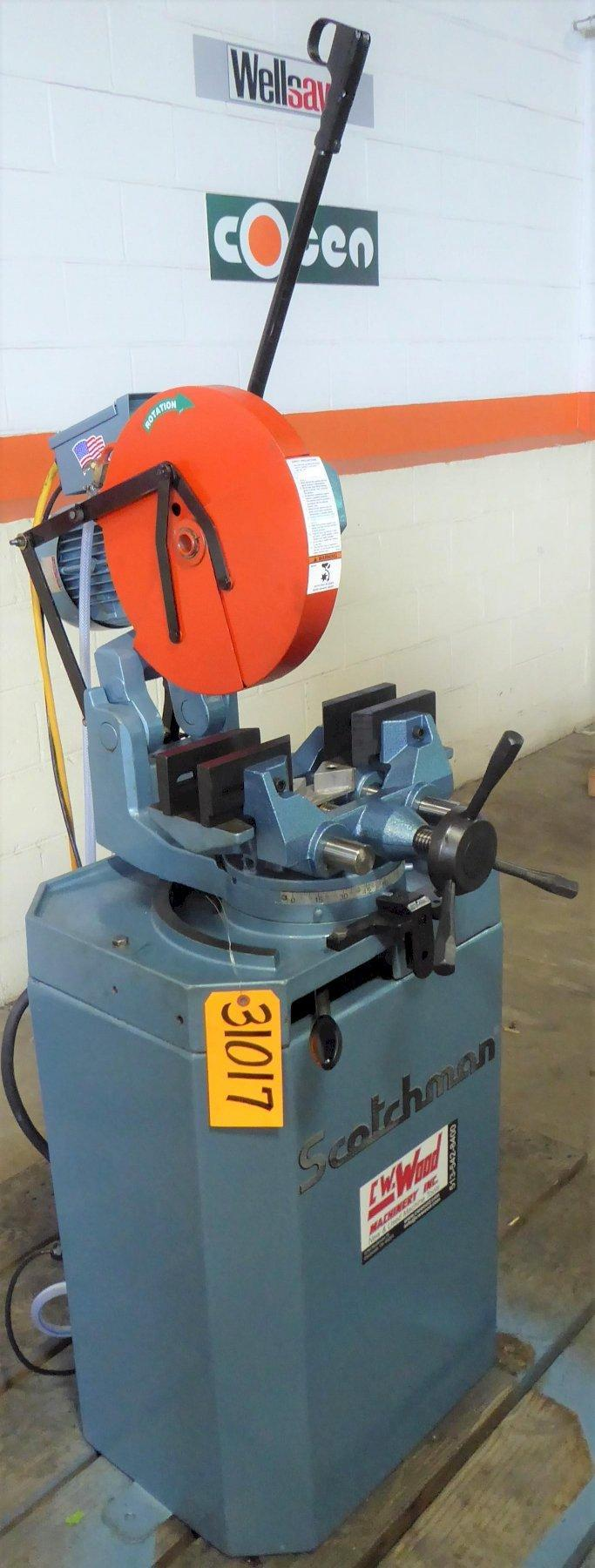 14″ SCOTCHMAN Cold Saw CP0 350LT, Miter, 4-7/8″ Tube, 2″ Solids,  2 HP, Reconditioned