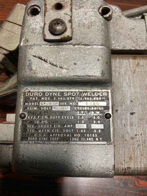 2.5 KVA Duro Dyne Portable Spot Welder Model SP-1