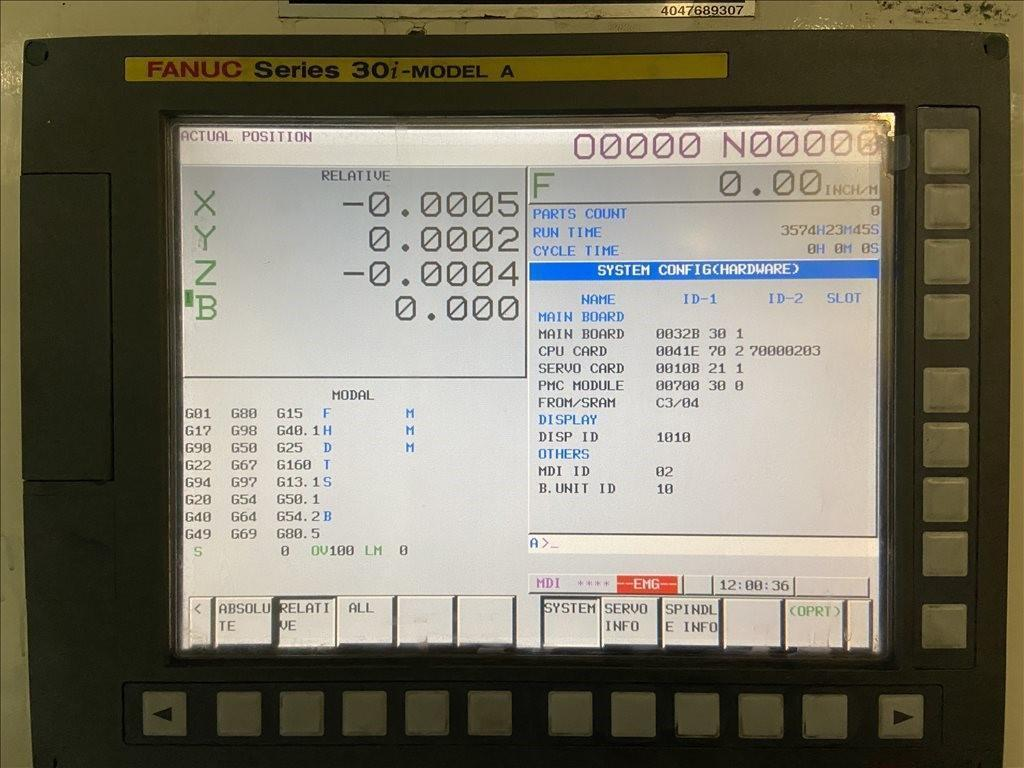 Niigata HN100D CNC Horizontal Machining Center