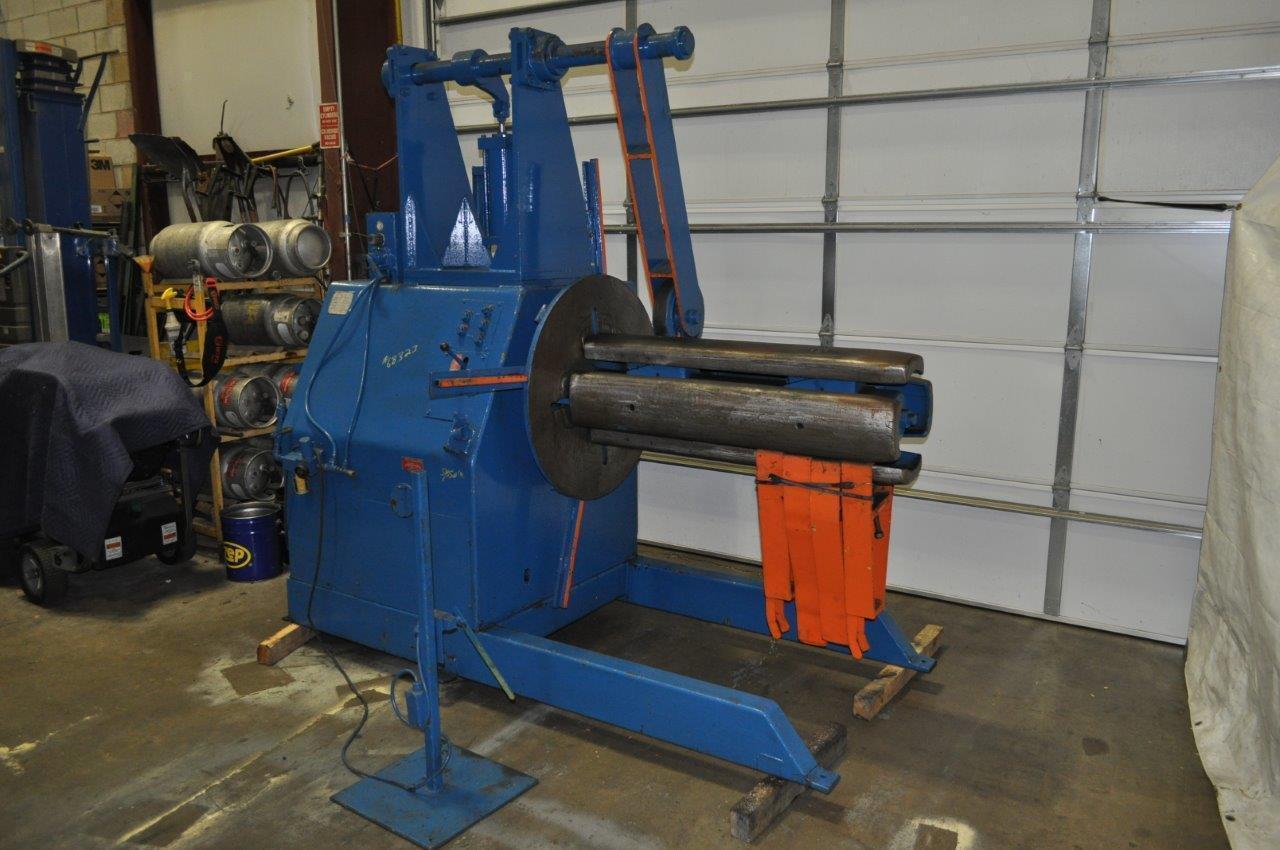 15,000# x 48 American Steel Line Motorized Uncoiler