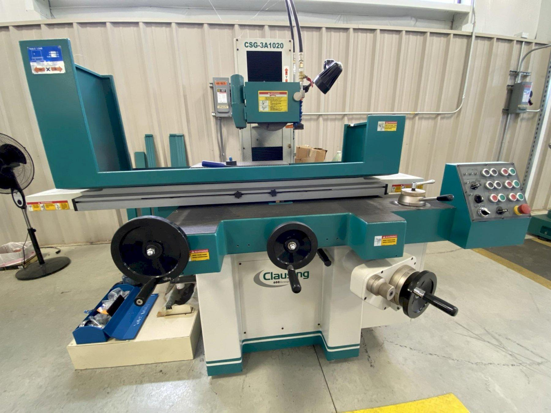 "USED CLAUSING 10"" X 20"" PRECISION HYDRAULIC SURFACE GRINDER MODEL CSG3A1020, Year 2014, Stock# 10838"