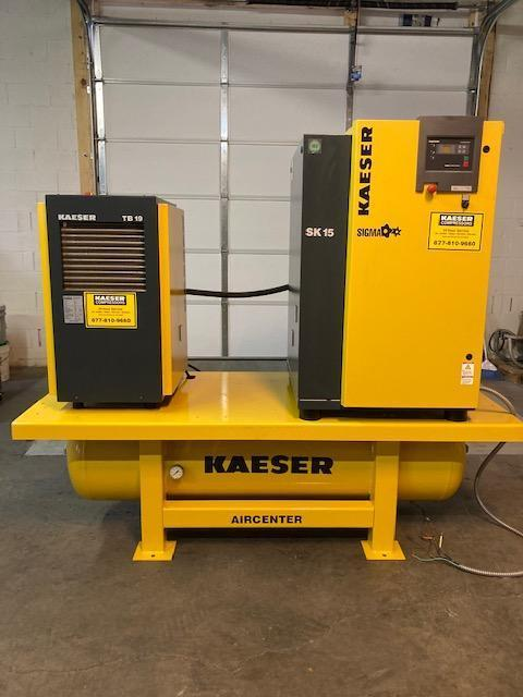 Kaeser SK 15 AirCenter Rotary Screw air compressor