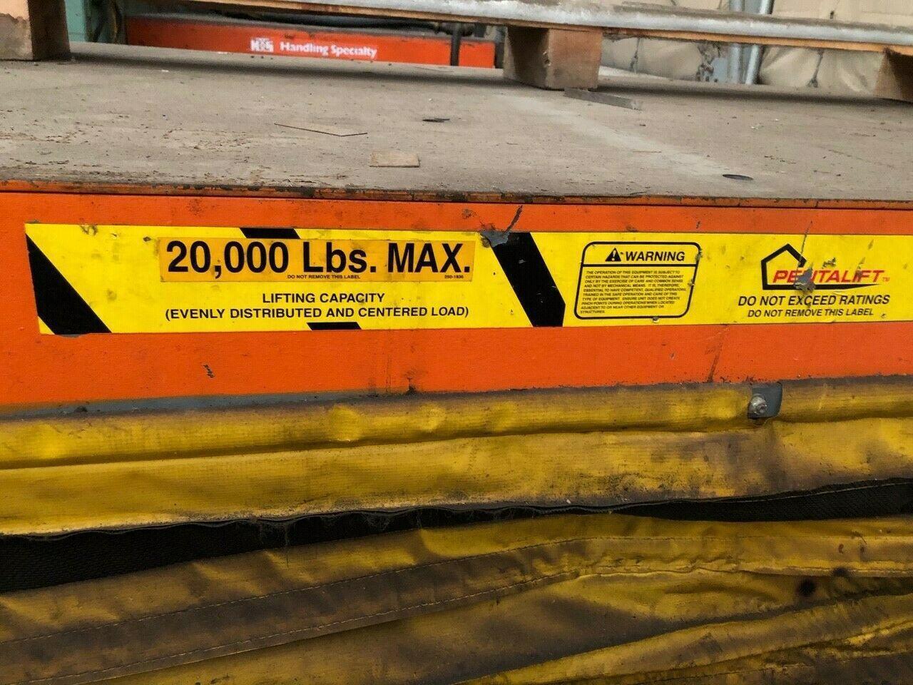"""20,000 LBS PENTALIFT HYDRAULIC SCISSOR LIFT TABLE 48""""X 78"""""""