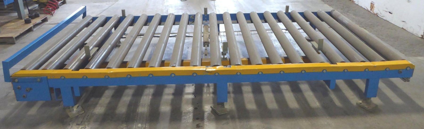 "Biele Power Roller Conveyor, 67"" Wide, 147"" Overall Length,  (19) 4-1/4"" Diameter Rolls On 8"" Centers, Approximately 18"" High-Adjustable Legs, 2011"