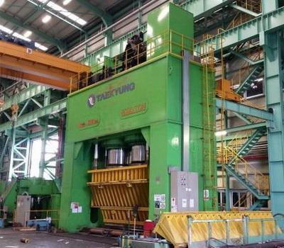 7000 Ton Hydraulic Pipe Forming Press with 2 sets of Bending Rolls