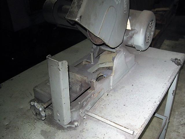 Everett Cut-Off Saw, Mounted on Bench