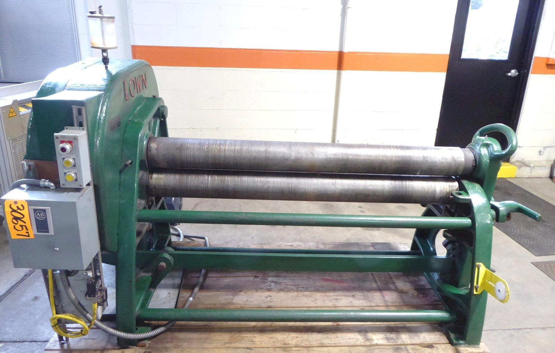 5′ x 1/4″ Lown Bending Roll No. B-662, Initial Type, 6″ Diameter Rolls, Drop End, 5 HP