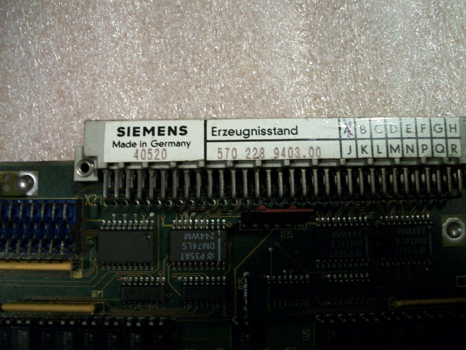 Siemens CNC Control Circuit Board 570 228 9403.00 / OE 570228.0005.00