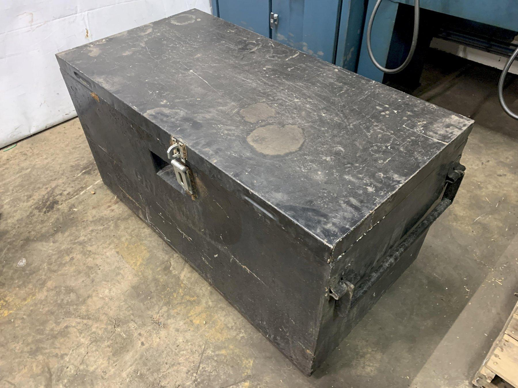 "24"" X 48"" X 25"" BLACK JOB BOX: STOCK 12955"
