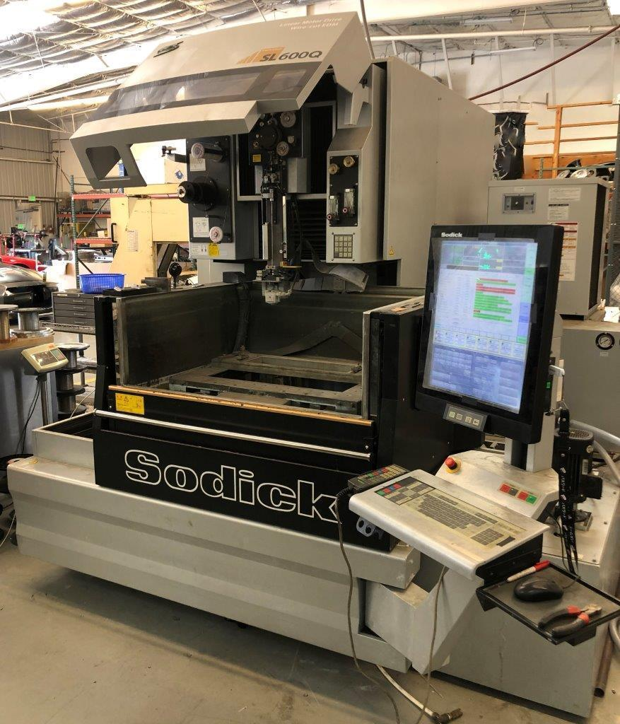 Sodick SL600Q Wire EDM 2014 with Submerged Cutting and Auto Threading.