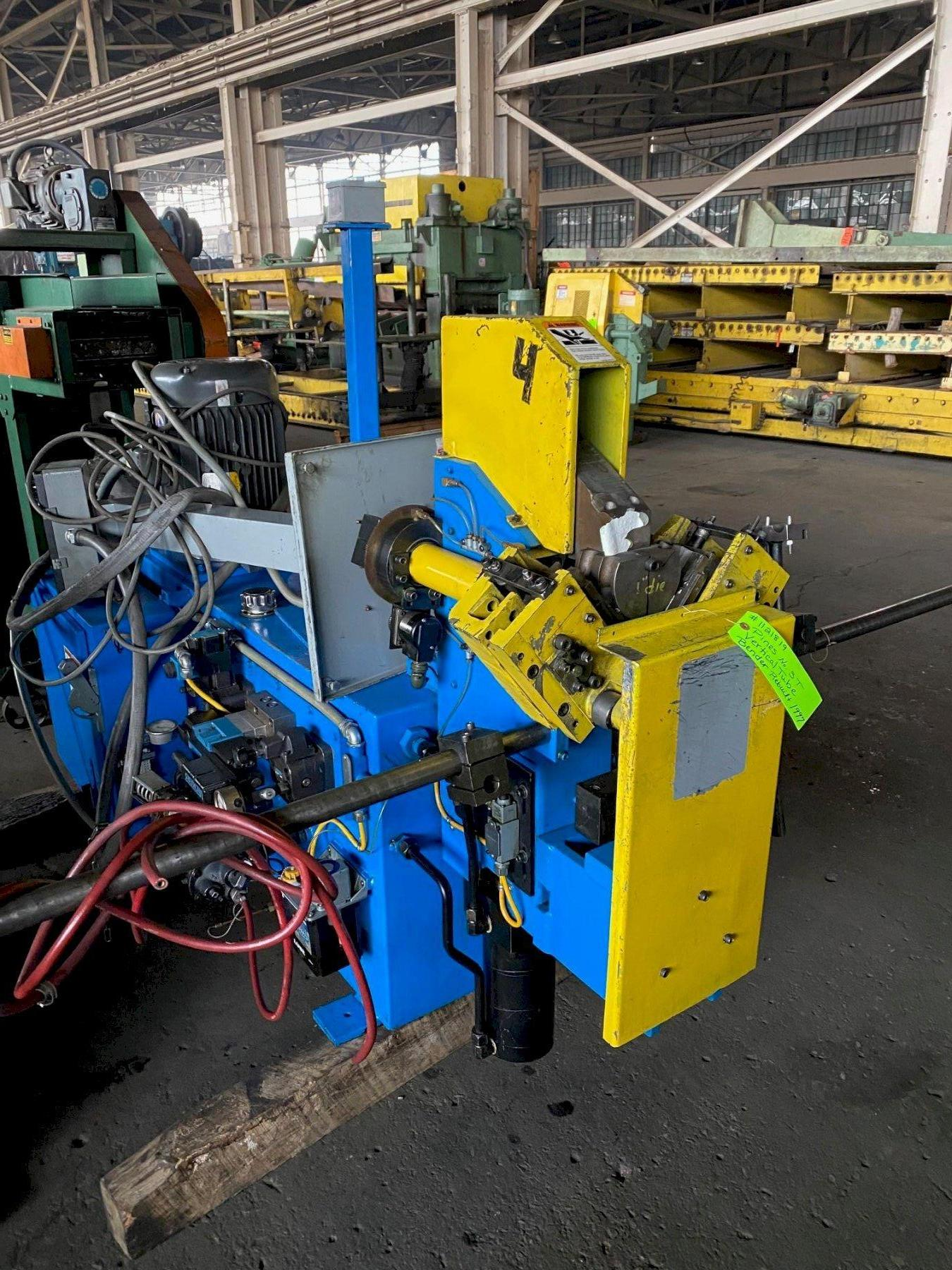 PINES NO . 3T VERTICAL TUBE BENDER(REBUILT 1999) CONTROL A BEND CONTROL. STOCK # 1121819