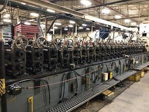 """22 STAND ON 24 STAND BASE X 3-1/2"""" ROLL FORMING LINE   Our stock number: 115061"""