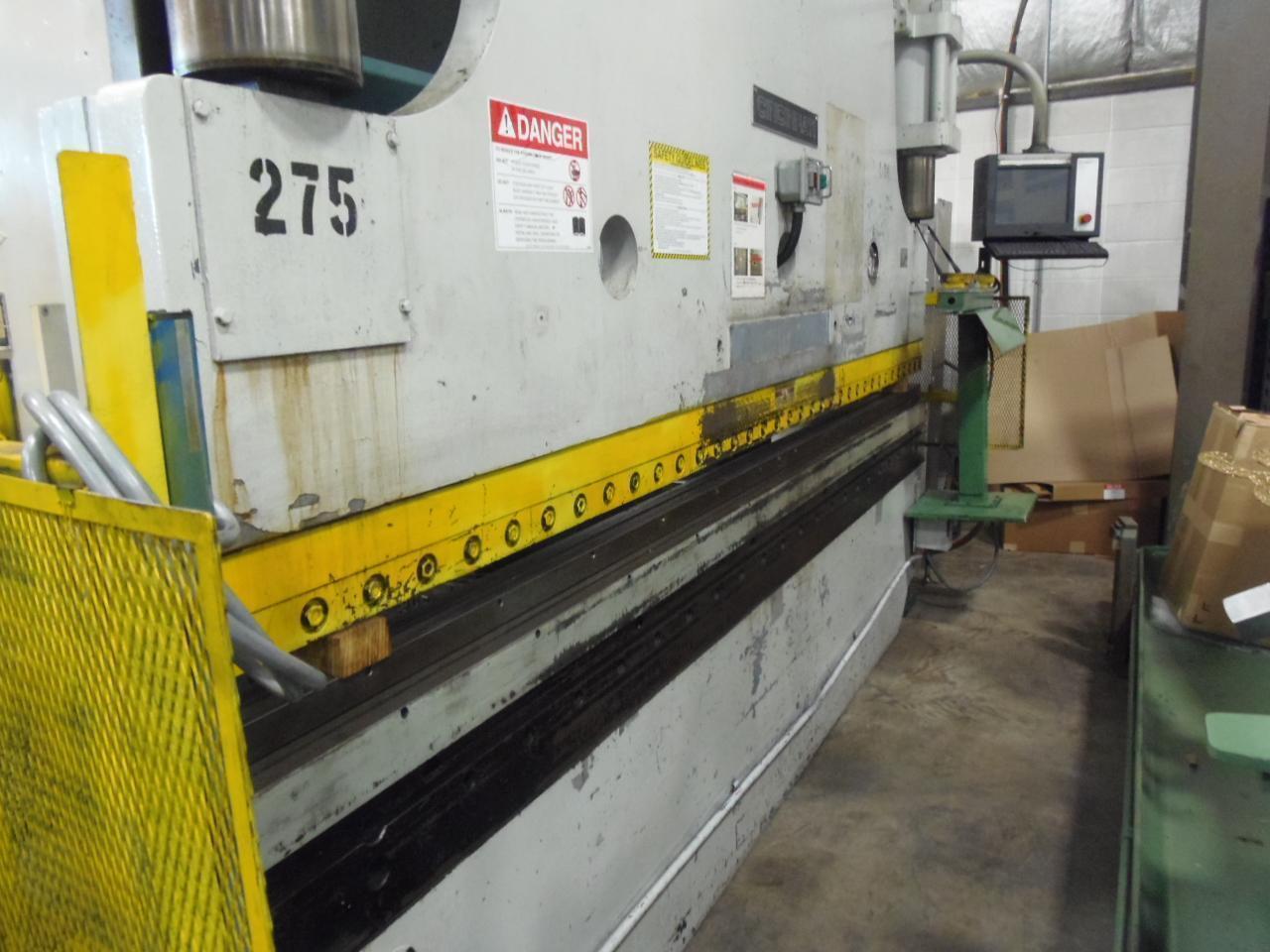 175 ton x 12' Cincinnati Hydraulic Press Brake, PC CNC Control, Flush Floor