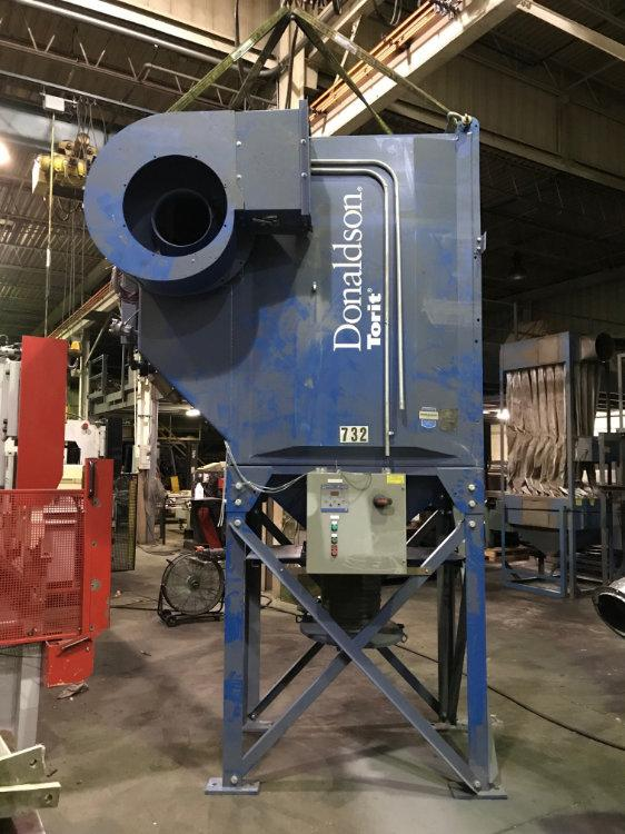 USED DONALDSON TORIT DOWNFLO OVAL DUST COLLECTOR, Model DFO3-12, 5000 CFM, Stock No. 10485