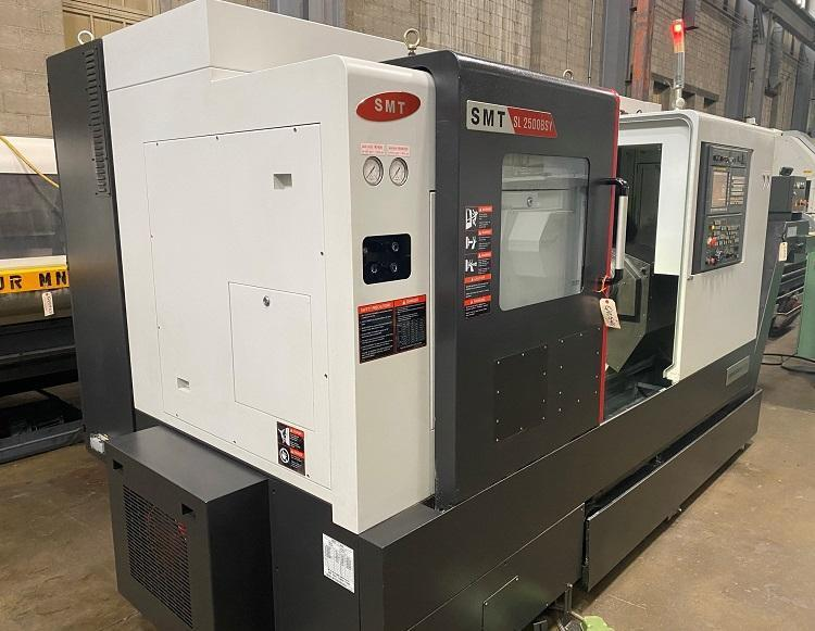 """SAMSUNG SL-2500BSY, Fanuc 0i-TF CNC Control, 3500 RPM Main Spindle, 10"""" 3-Jaw Chuck, 4500 RPM Sub Spindle, 8"""" 3-Jaw Chuck, 25"""" Max Swing, 23"""" Between Centers, Milling Spindle 5000 RPM, B-Axis, C-Axis, Y-Axis, 12 Station Turret, New 2016."""