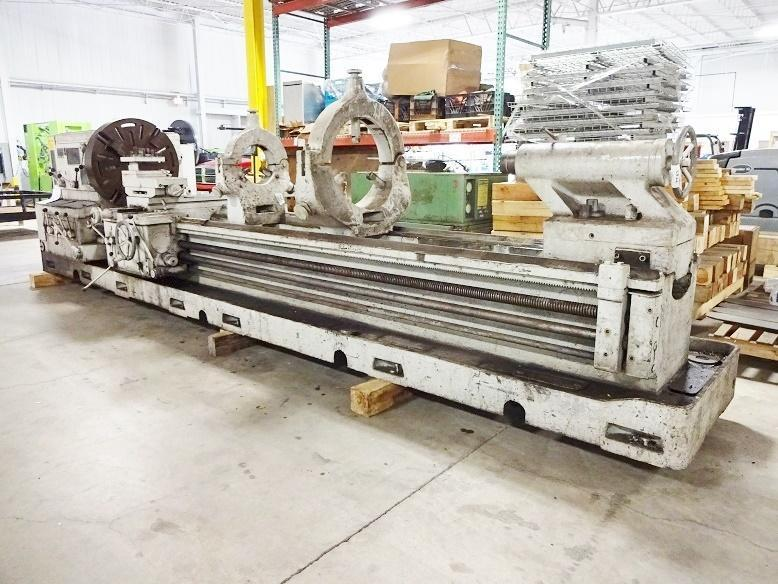 "37""/50"" X 210"" MEUSER GEARED HEAD GAP BED ENGINE LATHE"