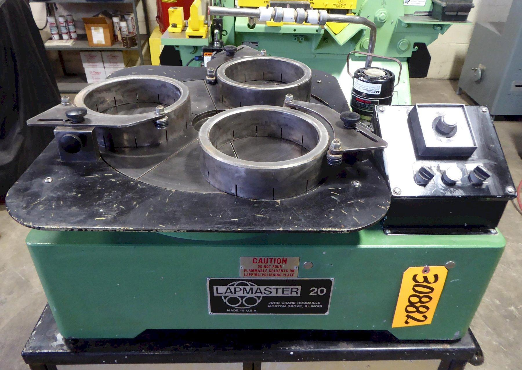 20″ Lapmaster Lapping Machine No. 20C, (3) Rings, Open Face, Bench Model