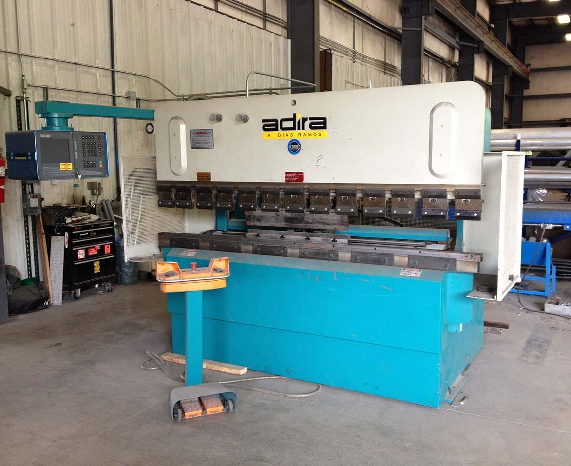 "70 ton x 98"" ADIRA Up-Acting Model QHX-6325-CBP Hydraulic Brake Press w/Cybelec 800 DNC Multi Axis 2D Color Control."