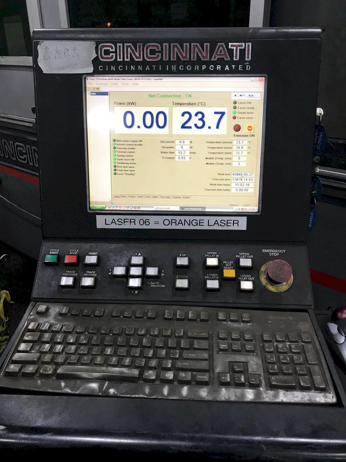 USED CINCINNATI 5' X 10' CNC FIBER LASER CUTTING SYSTEM MODEL CL940, Year: 2012, Stock # 10720