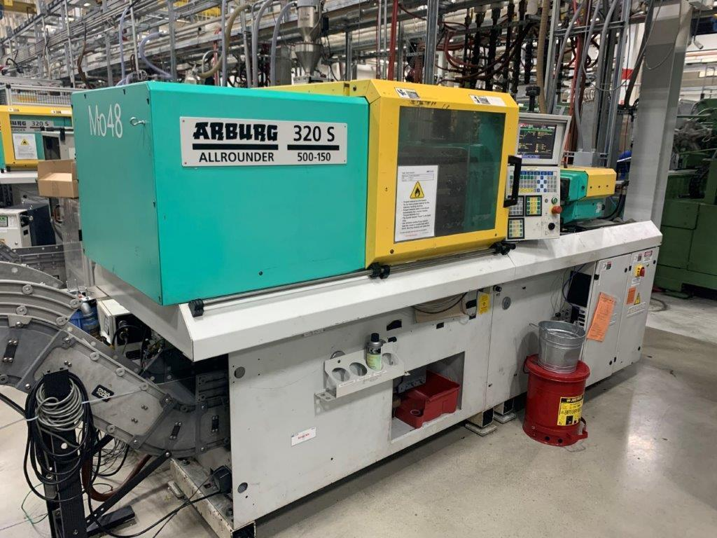 Arburg Used 420 C 1000-290 Injection Molding Machine, 110 US ton. Yr. 2010, 460V,  3.4 oz