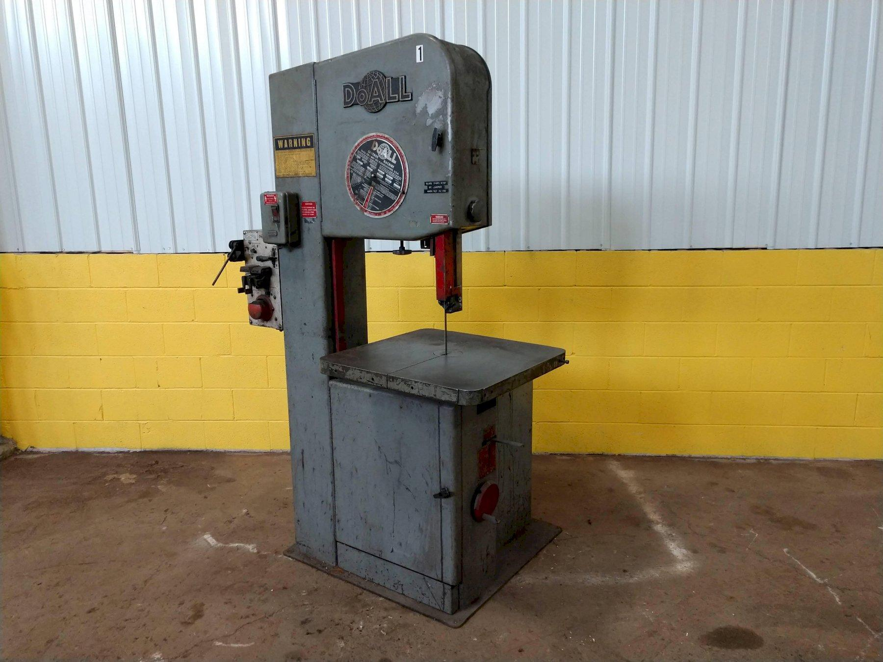 "20"" DOALL MODEL #2013V VERTICAL BANDSAW: STOCK #10645"