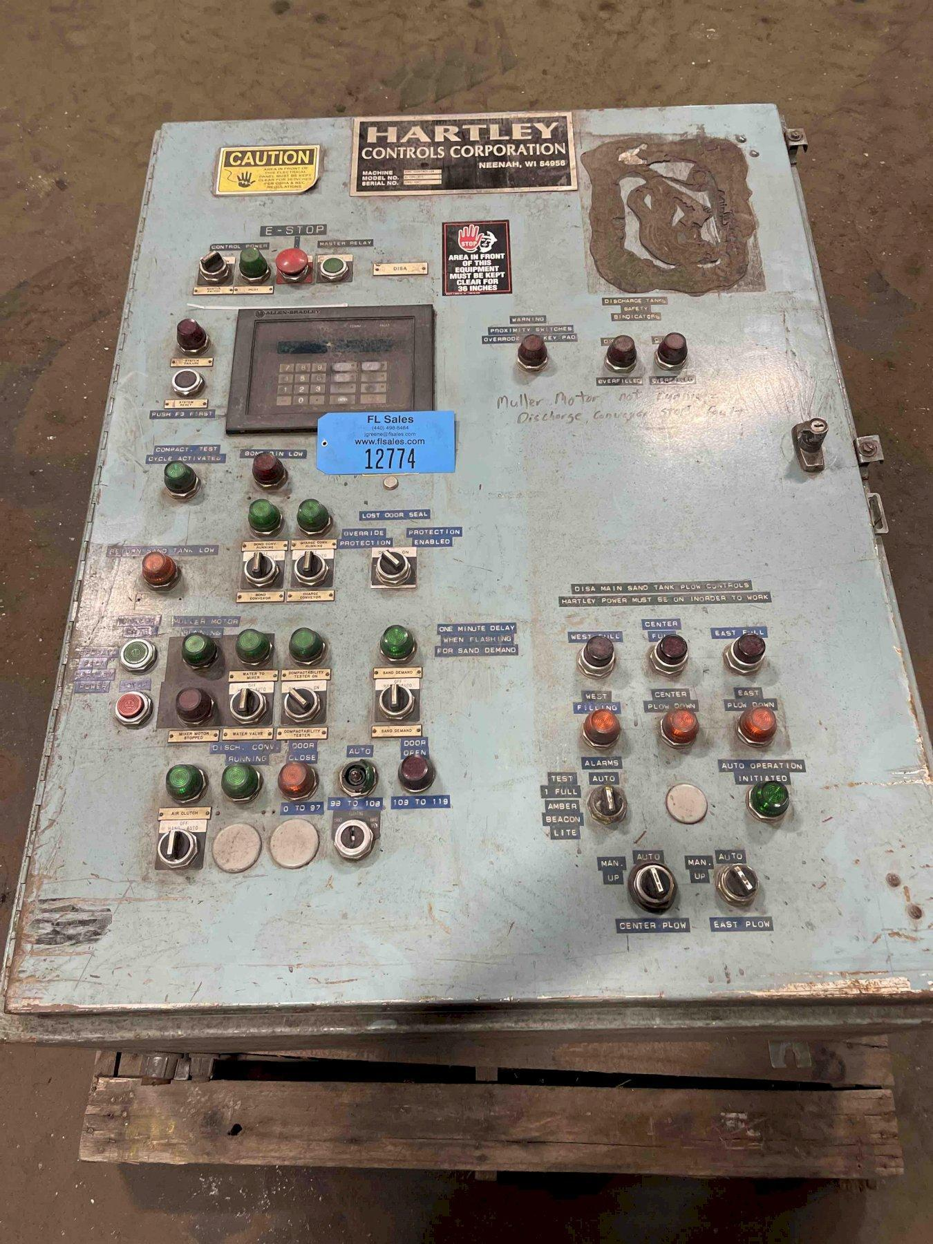 HARTLEY 17PC COMPACTABILITY CONTROLS WITH ALLEN-BRADLEY PLC 5/15 S/N 17pc-119