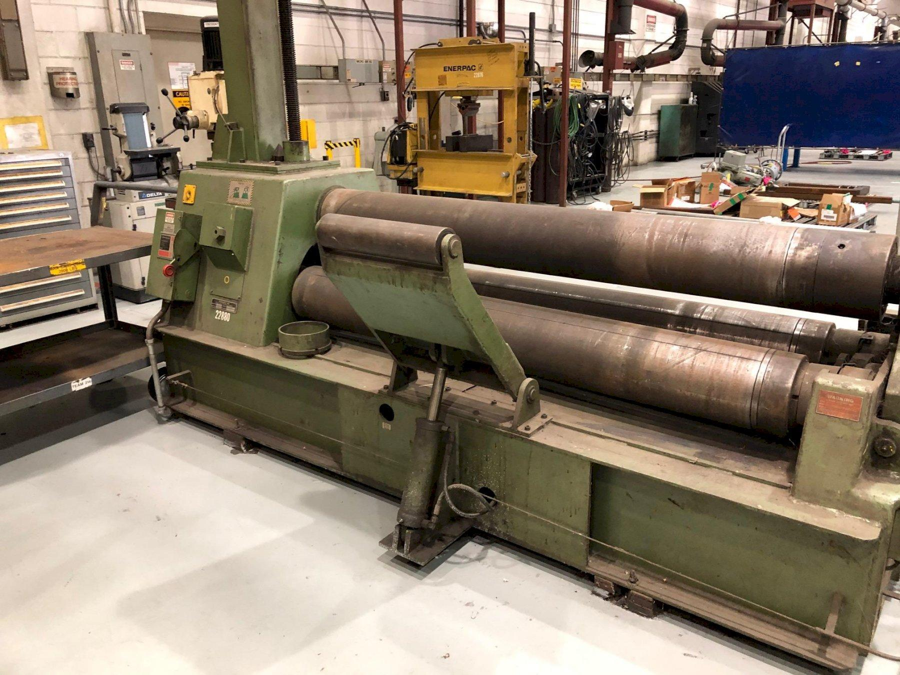 """5/8"""" X 6 ft Roundo 3-Roll Hydraulic Plate Bending Roll Model Ps 255/6"""