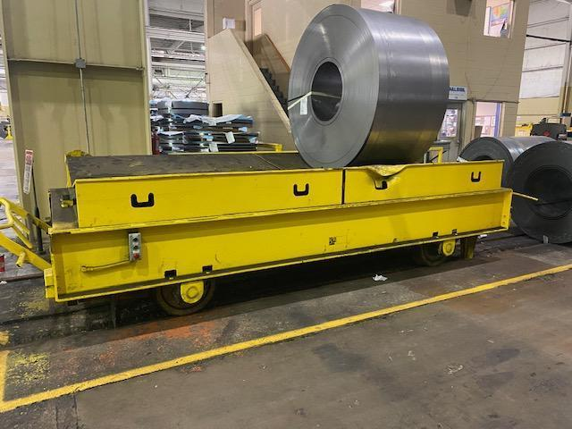 """55 TON X 170"""" X 80"""" WHITING COIL TRANSFER CART: STOCK 14910"""
