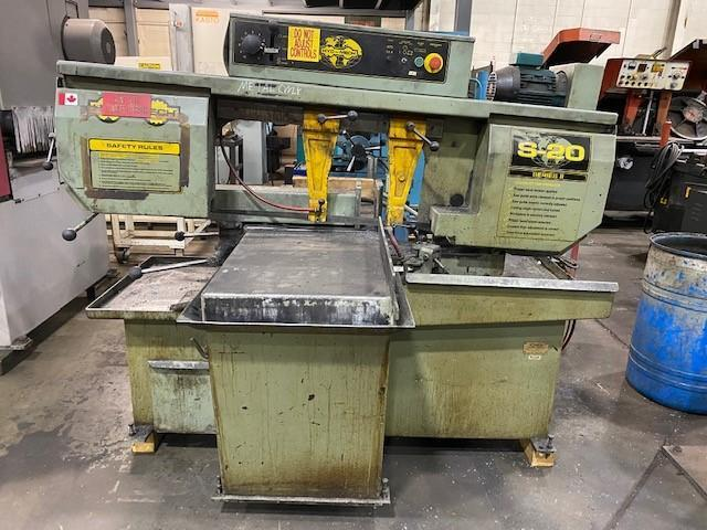 "USED HYD-MECH MODEL S-20 MANUAL MITERING 13"" X 18"" BANDSAW, Year 1999, Stock# 10836"