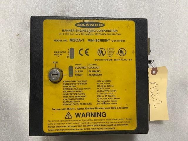 BANNER ENGINEERING MSCA-1 MINI SCREEN CONTROL BOX