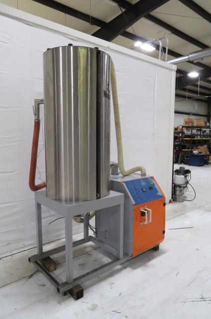 Motan Used Luxor TM 120 Material Dryer and Hopper, Desiccant, Approx. 100 lb/hr, 480V