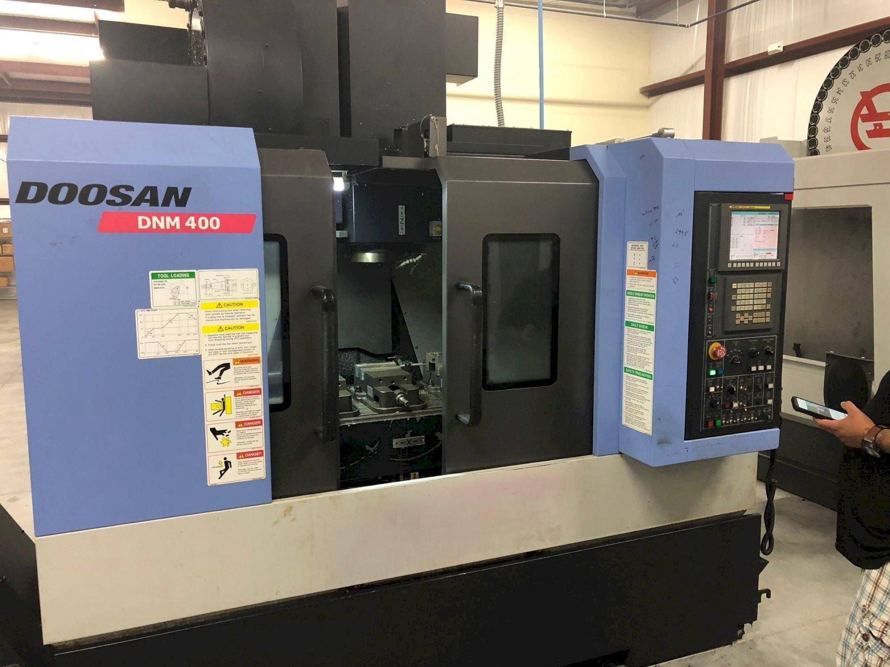 2013 Doosan DNM 400 4-Axis CNC Vertical Machining Centers - 2 Available!