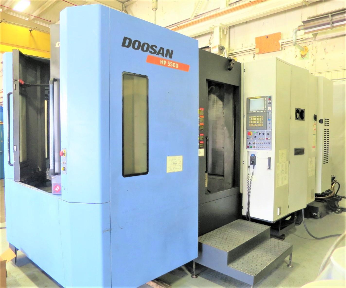 DOOSAN HP 5500 CNC 4-AXIS HORIZONTAL MACHINING CENTER