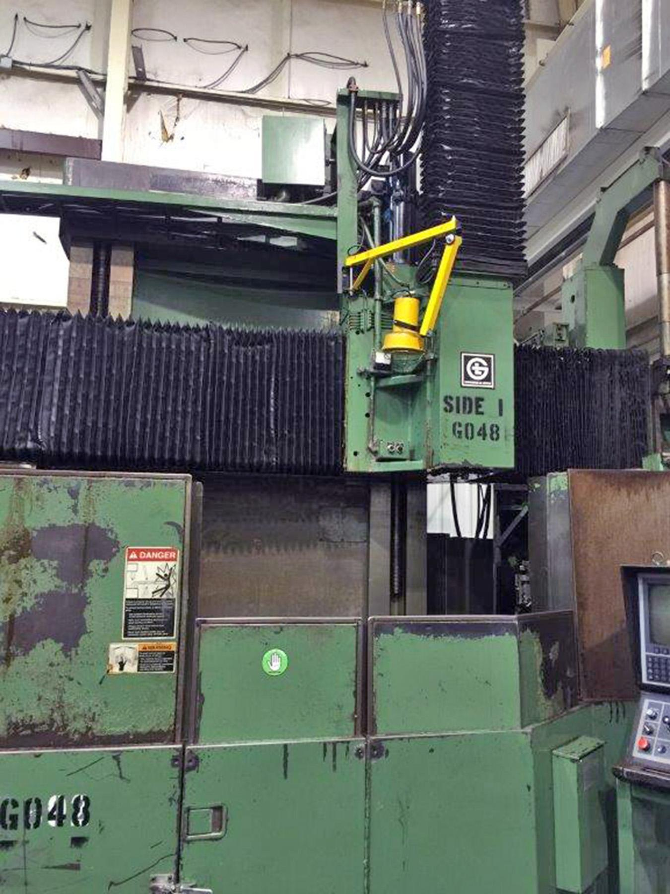 "USED, 48"" GIDDINGS & LEWIS CNC VERTICAL BORING MILL WITH DUAL PALLETS"