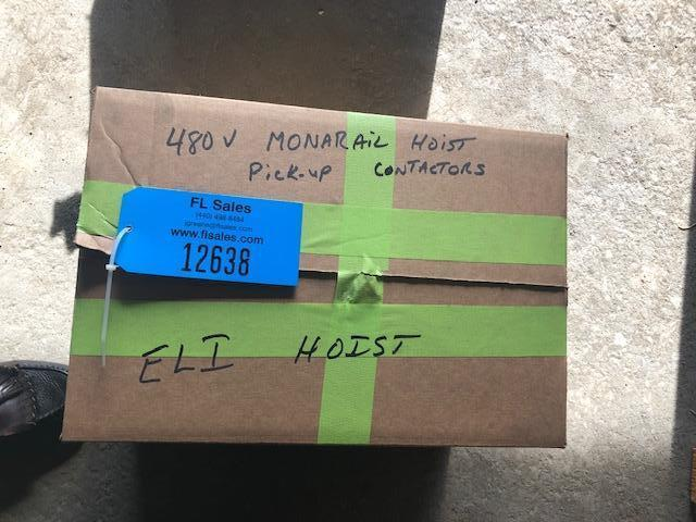 BOX OF ELECTROLIFT 1 TON ELECTRIC HOIST SPARE PARTS