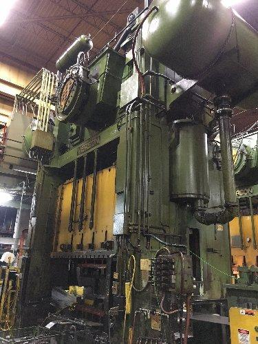 800 Ton Verson S4-800-120-60t, Straight Side Press