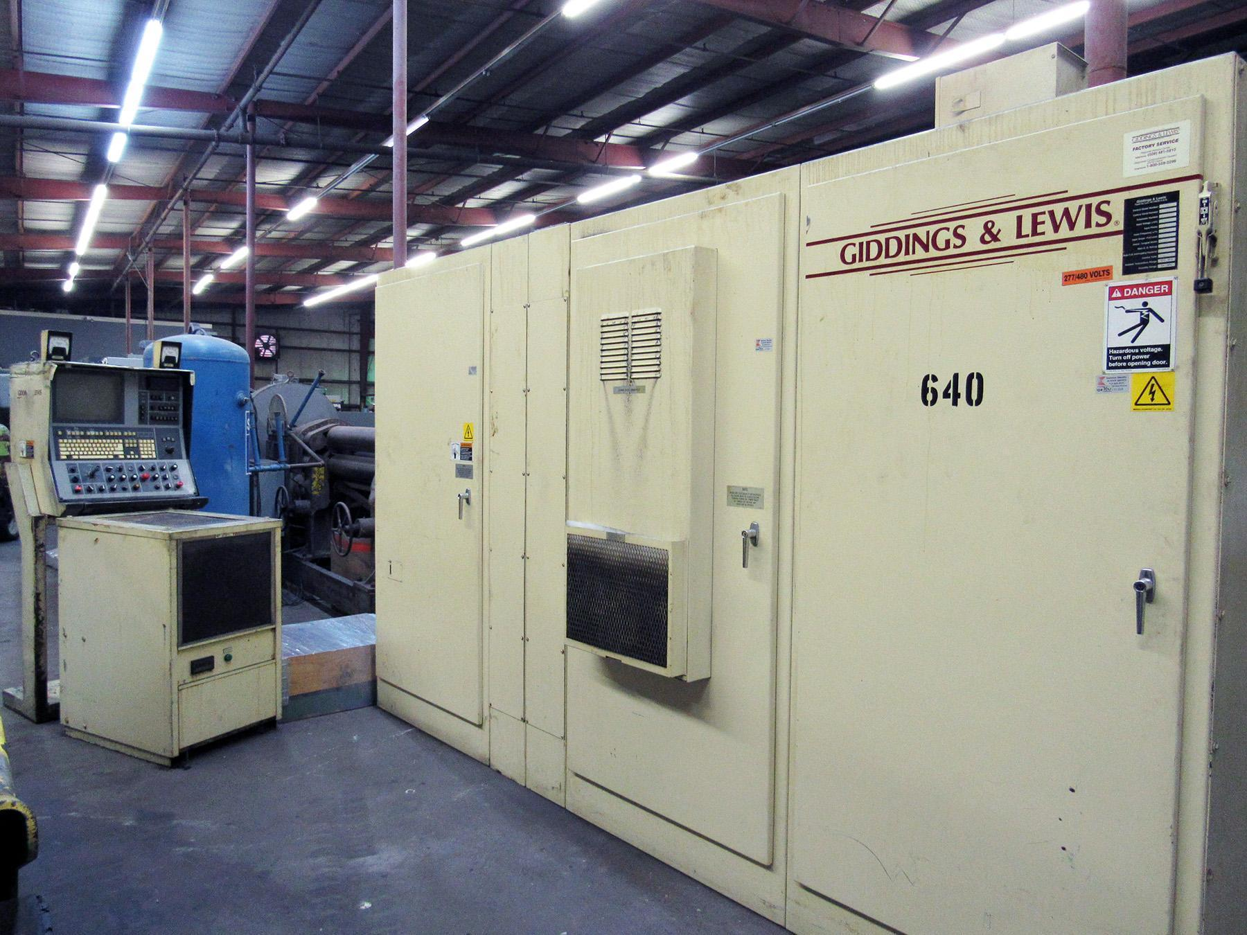 USED, ELECTRICAL CABINET AND CONTROL CONSOLE FROM GIDDINGS & LEWIS VTC 48 CNC VERTICAL BORING MILL