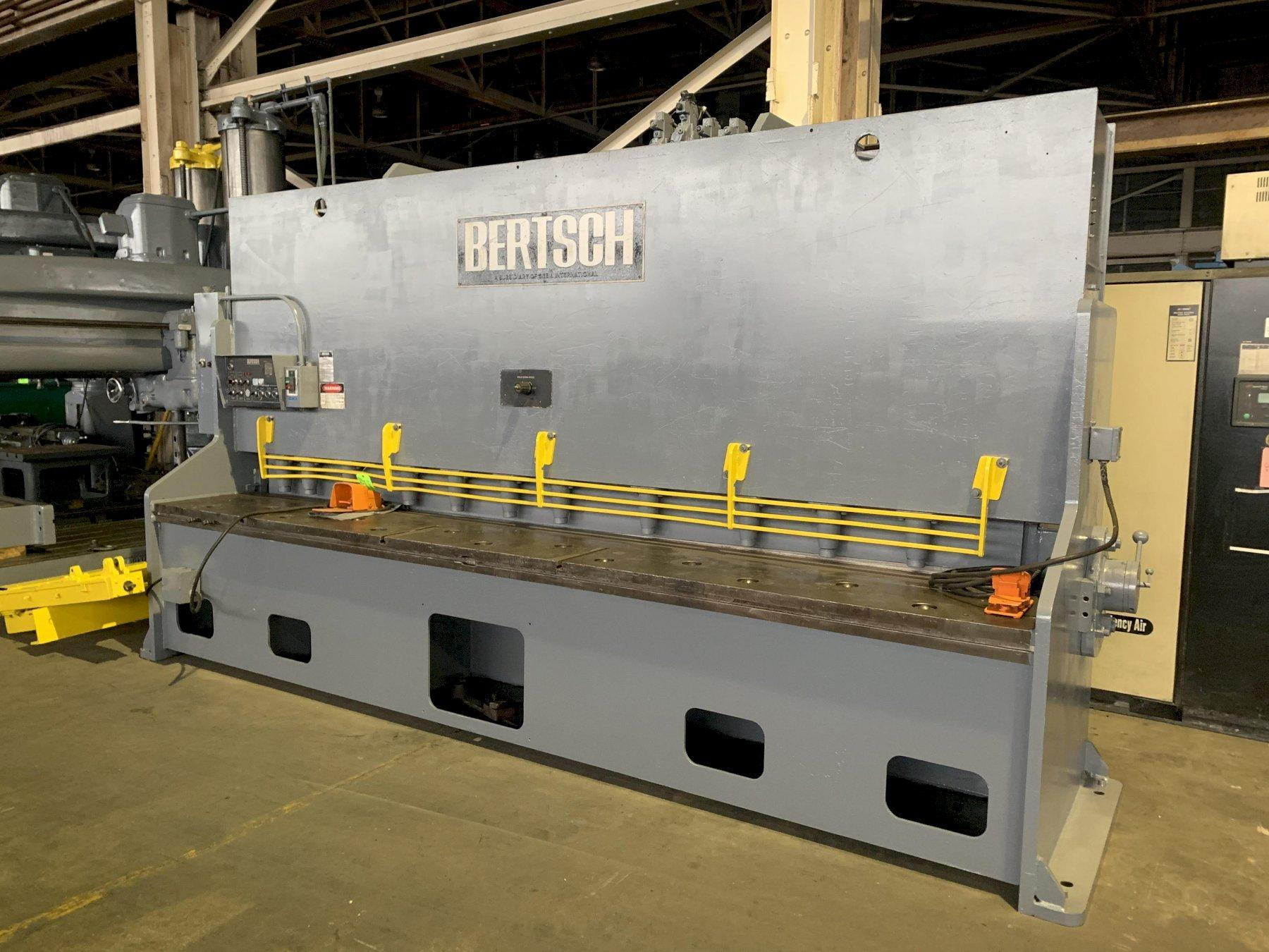 "12' X 1/2"" BERTSCH HYDRAULIC POWER SQUARING SHEAR: STOCK 11887"