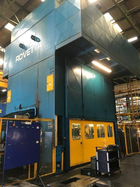 800 Ton Roveta Mechanical Transfer Press with Coil Feed Line