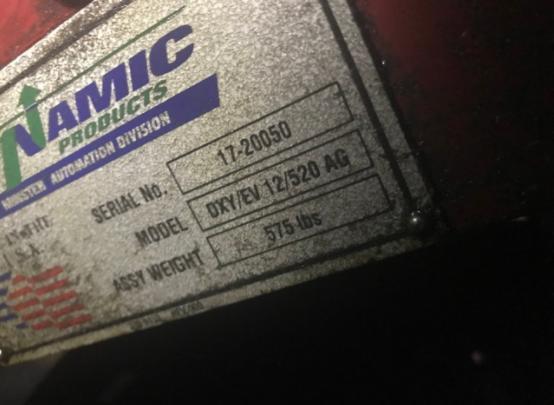 """20.5"""" x .157"""" DYNAMIC PRODUCTS SERVO DRIVEN ZIG-ZAG ROLL FEED"""