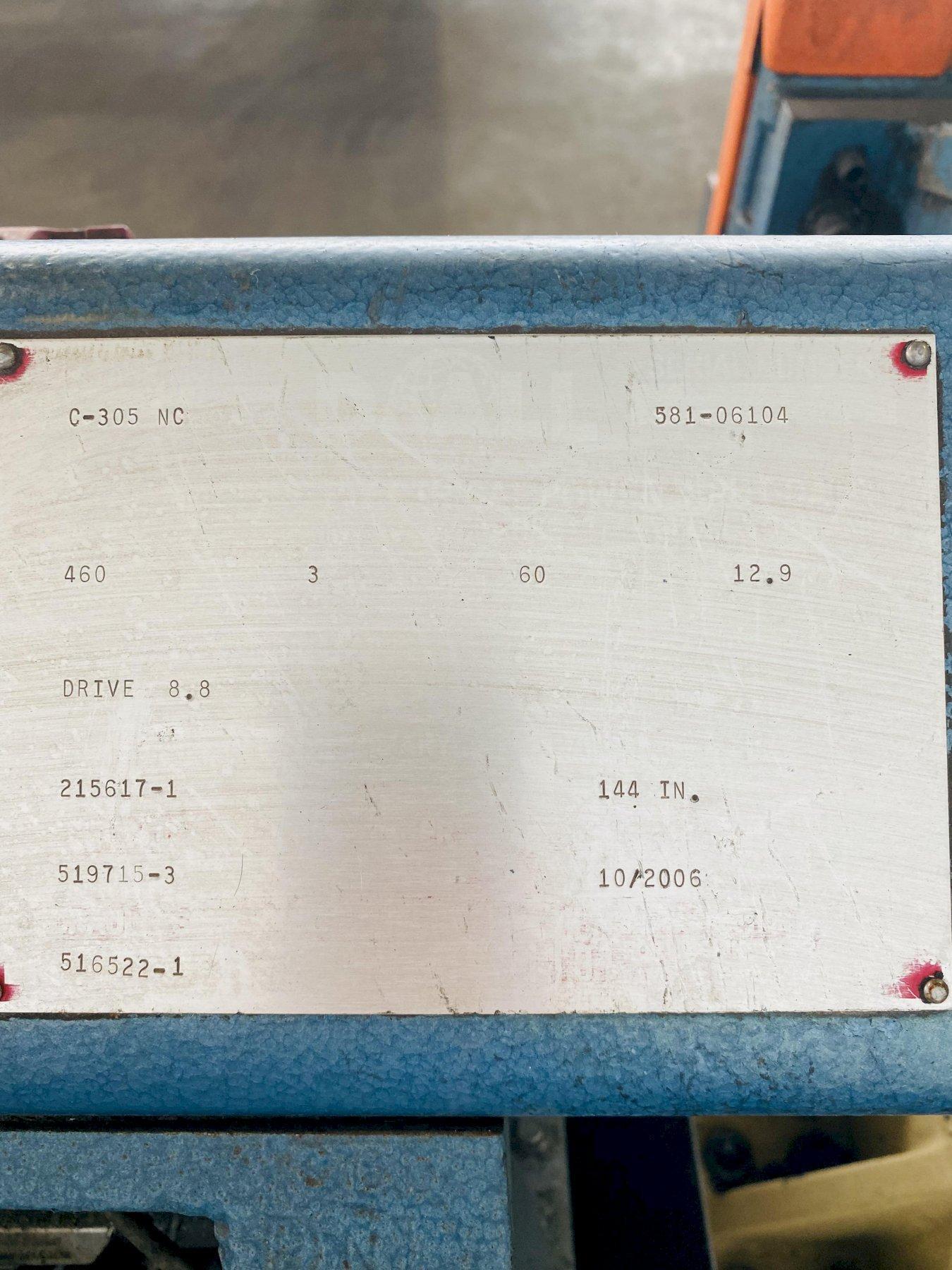"10"" DOALL MODEL #C-305 NC HORIZONTAL BANDSAW. STOCK # 0632521"