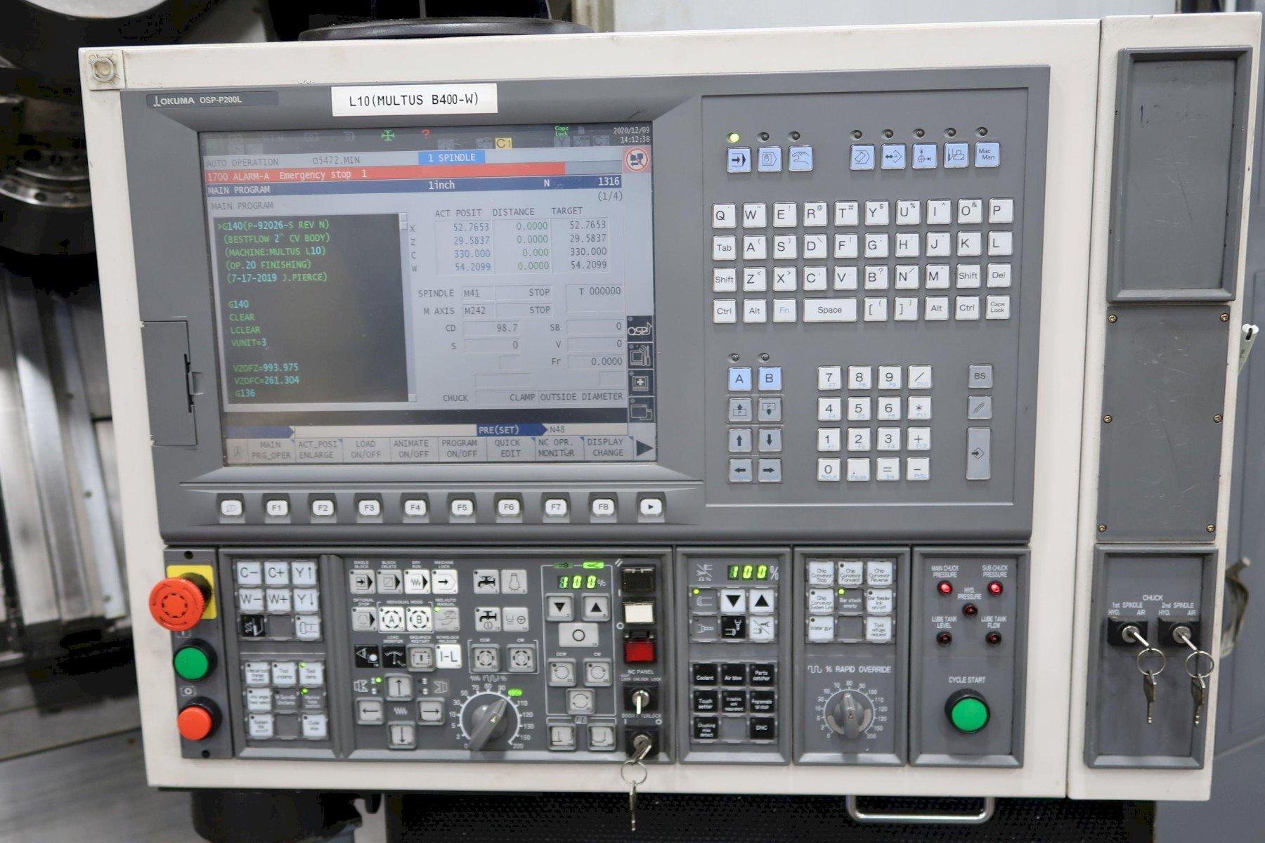 2008 Okuma Multus B400W - CNC Horizontal Lathe