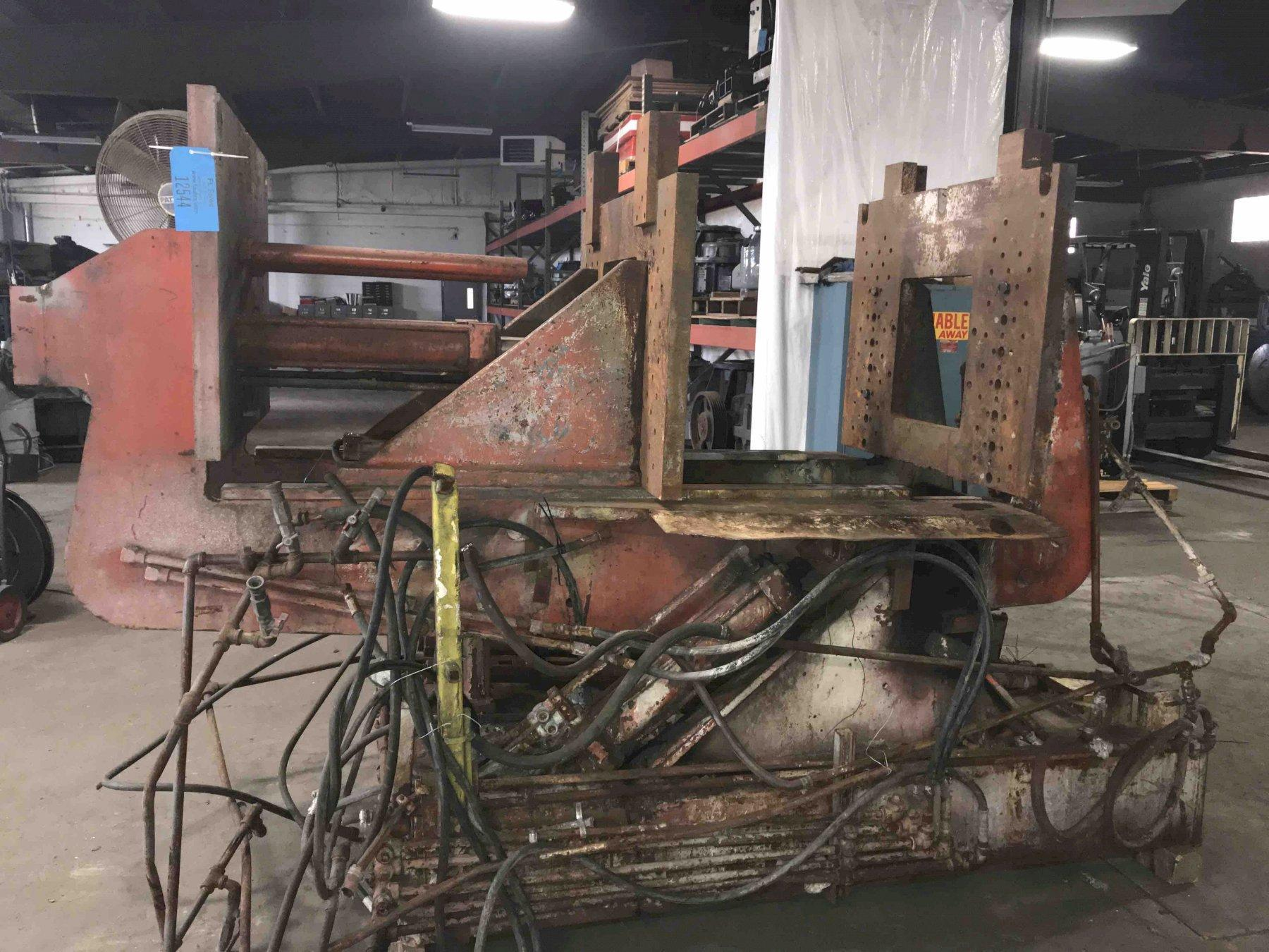 """Hall model hm3 permanent molding machine s/n 305888, twin cylinder type , 28"""" x 42"""" platen"""